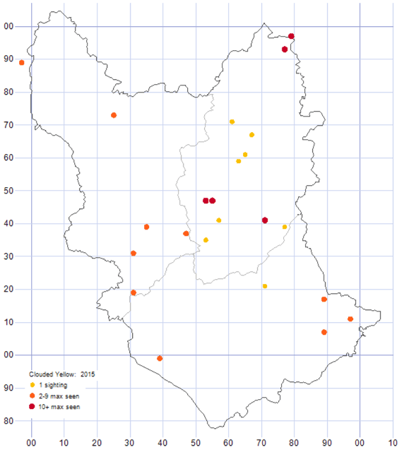 Clouded Yellow distribution map 2015