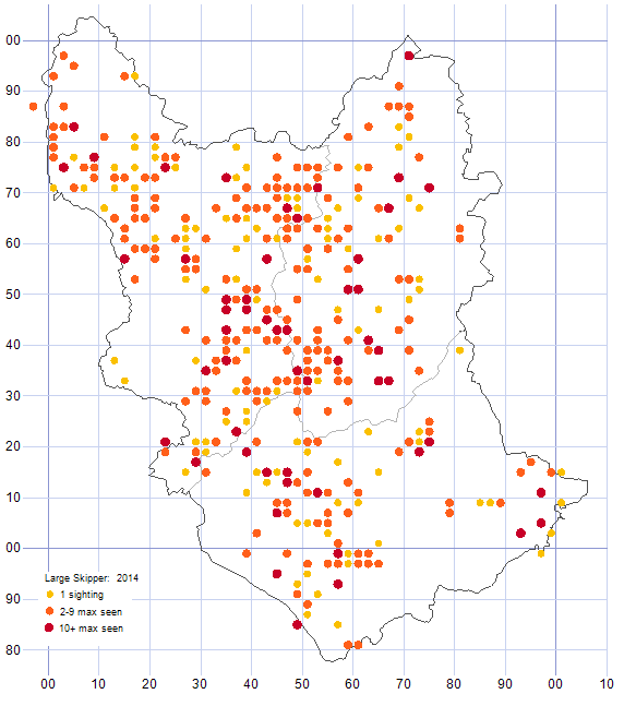 Large Skipper distribution map 2014