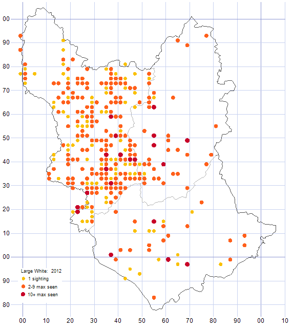 Large White distribution map 2012