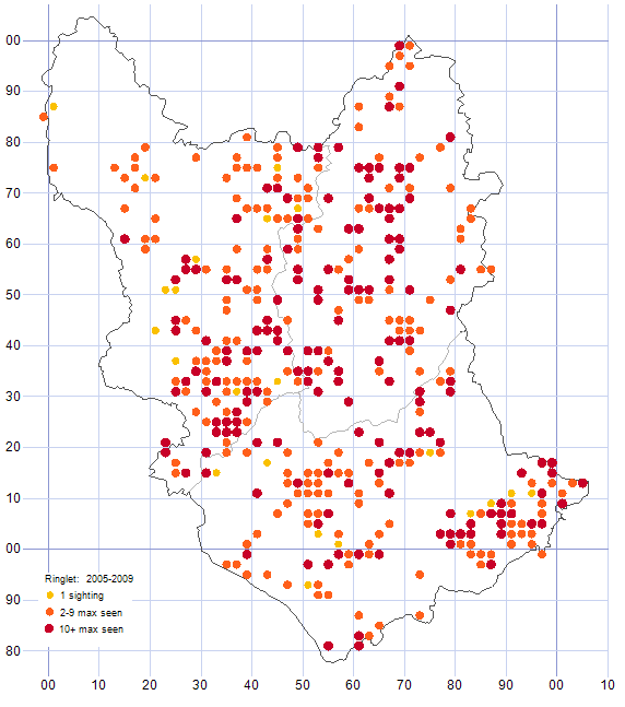 Ringlet distribution map 2005-09