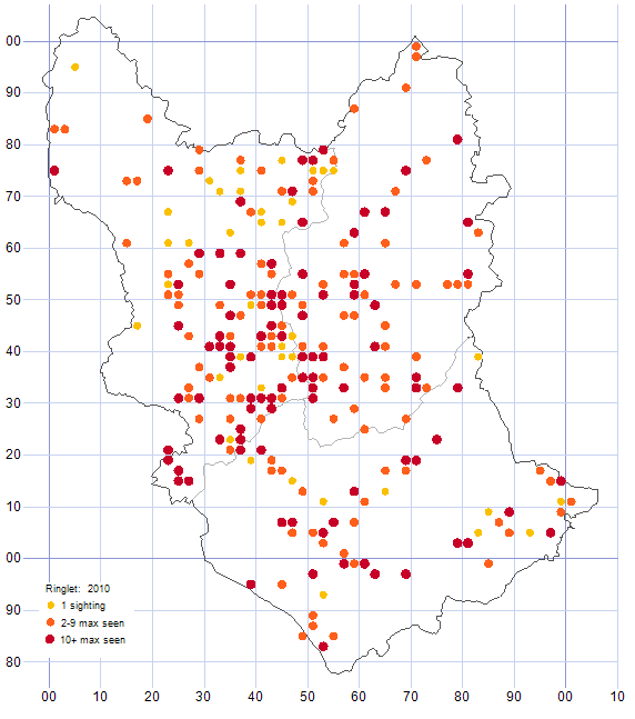 Ringlet distribution map 2010