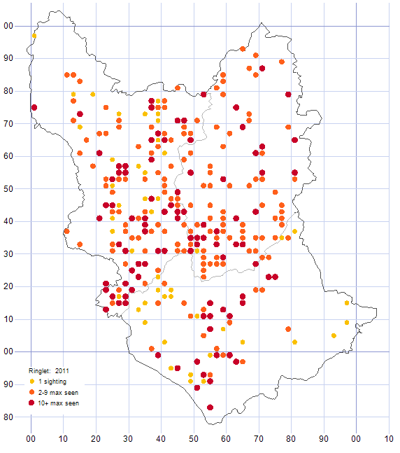 Ringlet distribution map 2011