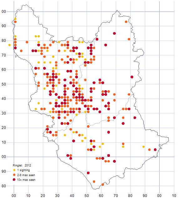 Ringlet distribution map 2012