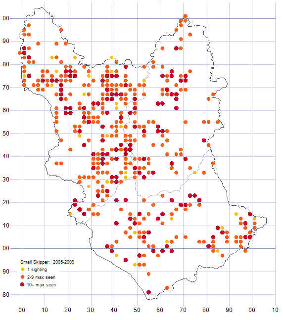 Small Skipper distribution map 2005-09