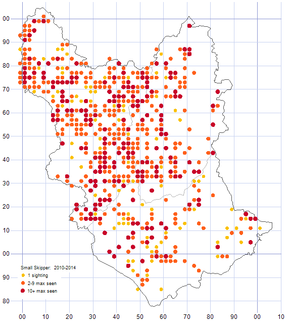 Small Skipper distribution map 2010-14