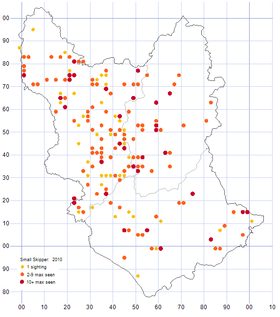 Small Skipper distribution map 2010