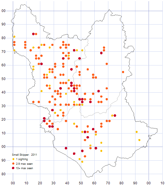 Small Skipper distribution map 2011