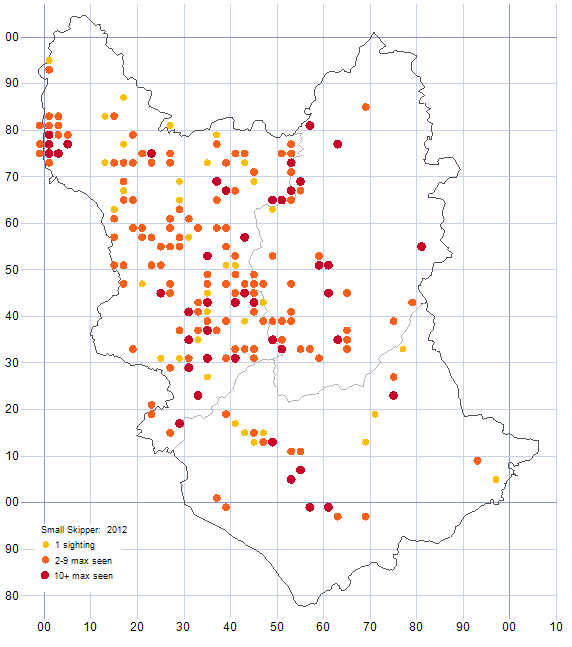 Small Skipper distribution map 2012