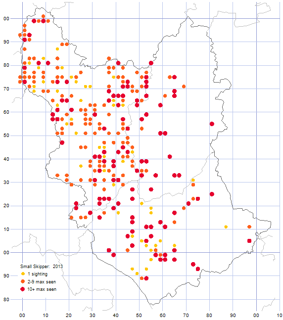 Small Skipper distribution map 2013