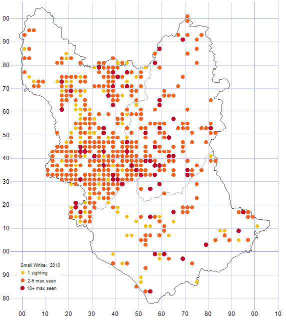 Small White distribution map 2010