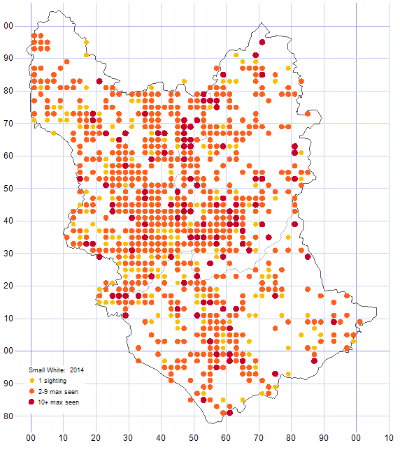 Small White distribution map 2014