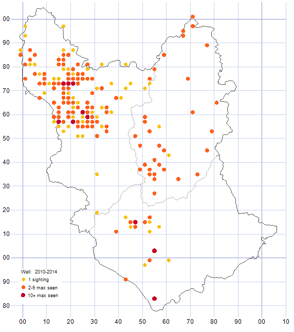 Wall distribution map 2010-14