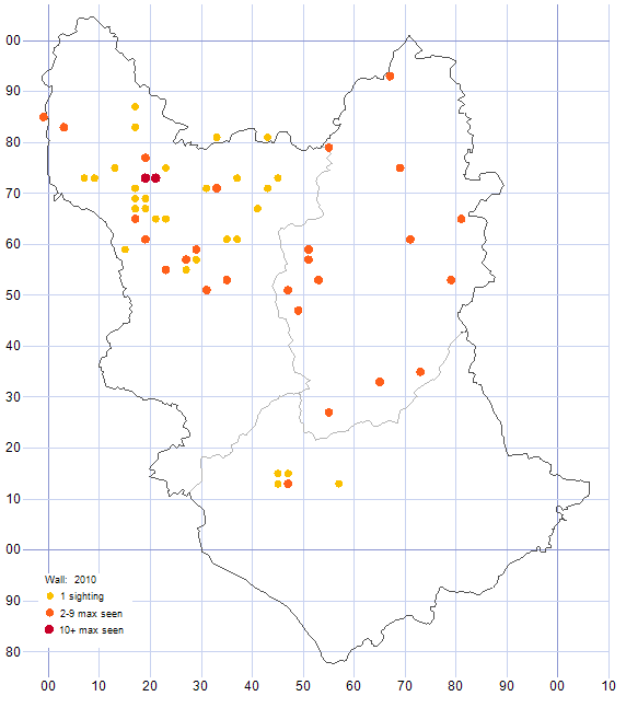 Wall distribution map 2010