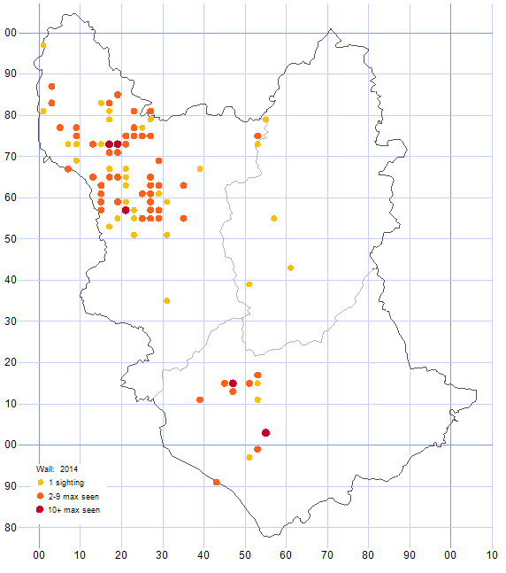Wall distribution map 2014